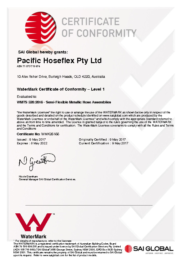 WaterMark WMTS 520:2016 - Level 1